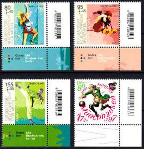 3542-3543-3544-3546-postfrisch-Ecke-Eckrand-rechts-unten-BRD-Bund-2020