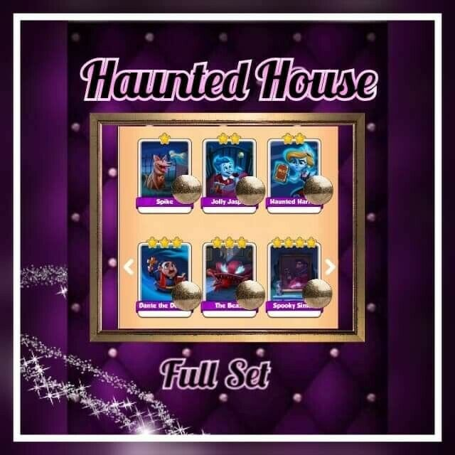Coin Master Cards ::: Haunted House Full set (( Fast sending))