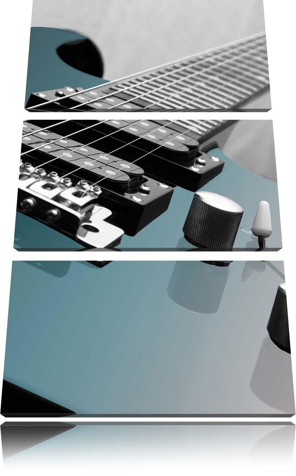 Primer Plano un Guitarra Eléctrica 3-Teiler Foto en Lienzo Decoración rojo de Pa rojo Decoración  a26318