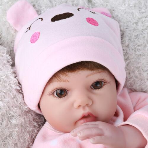 20/'/' Reborn Doll Baby Lifelike Vinyl Silicone Newborn Dolls Wig Gift Girl Toys