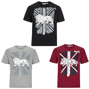 Lonsdale-T-Shirt-Boxing-Graphic-Union-Jack-Logo-Black-Grey-Red-S-3XL-Regular-Fit