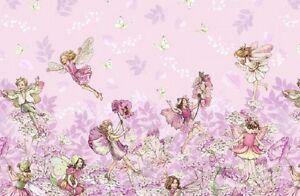 Michael miller flower fairies petal flowers border fabric in pink image is loading michael miller flower fairies petal flowers border fabric mightylinksfo