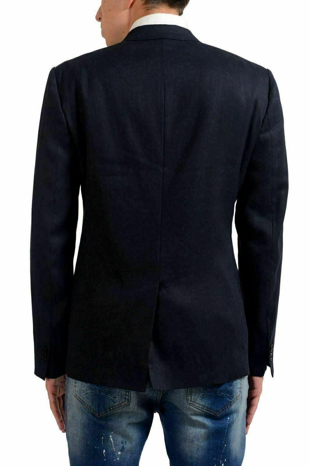 Maison Maison Maison Margiela 14 Herren Leinen Wolle Marineblau Zwei Knöpfe Blazer Us 38 I 48   | Zuverlässige Qualität  | Ausgezeichneter Wert  | Neuartiges Design  d19210
