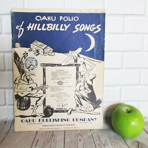 vintage 1944 oahu folio hillbilly song sheet music book hawaiian guitar electric ebay. Black Bedroom Furniture Sets. Home Design Ideas