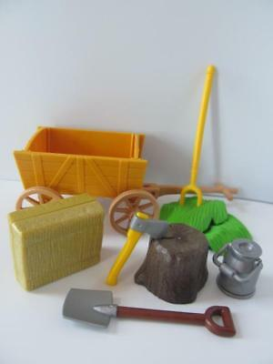 Playmobil Bucket of Water Tree Stump /& Axe farm house mansion stables castle NEW