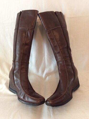 X pelle pres 7 Stivali taglia in marrone al ginocchio wHO1AXFq