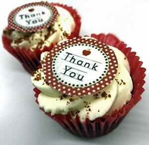 24-PRECUT-Thank-You-Edible-Wafer-Paper-Cupcake-Cake-Toppers-Decorations