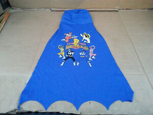 VTG Mighty Morphin Power Rangers Mask Cape HOOD RARE Blue 90'S Kids AWESOME!
