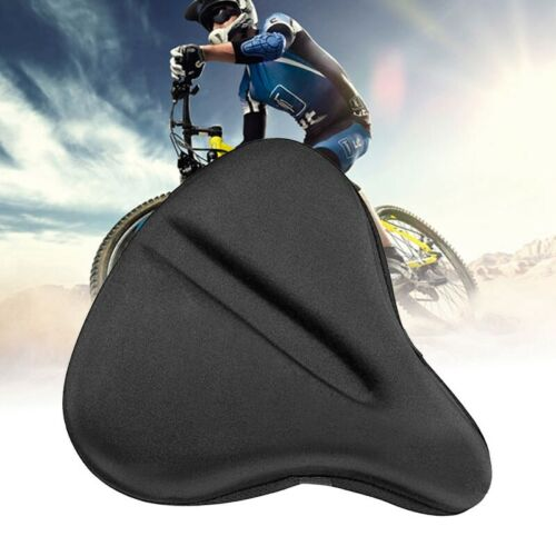 Silicone Bike Seat Gel Cushion Cover For Large Wide Bicycle Saddle //Pad Bike