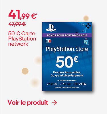 50 € Carte PlayStation network - 41,99 €*