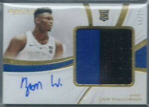 ZION-WILLIAMSON-2019-20-PANINI-IMMACULATE-RPA-JERSEY-PATCH-AUTO-AUTOGRAPH-RC-99