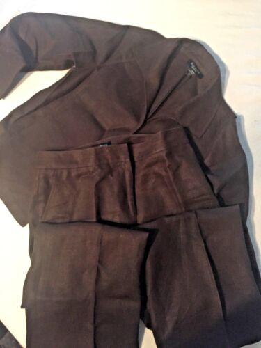 Talbots Brown Dress Work Set Size 8