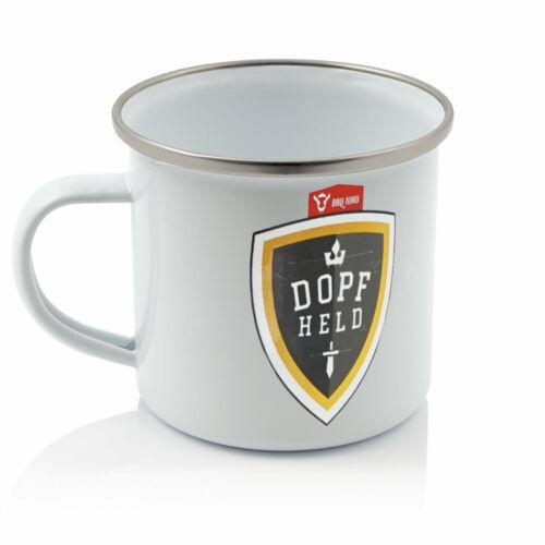 BBQ-Toro Dopfheld Emaillierte Tasse 350 ml weißOutdoor Kaffeetasse