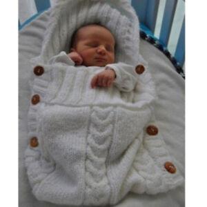 Newborn Baby Warm Blanket Knit Crochet Swaddle Wrap Sleeping Bag
