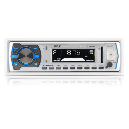 W// Remote Pyle PLMRB29W Bluetooth MP3//USB//AUX SD Card Stereo Radio Receiver