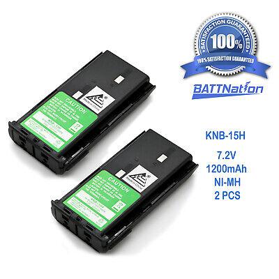 for KENWOOD TK-260 TK-360 TK-270G TK-370G s 2 x KNB-14A 15 KNB-15A Battery