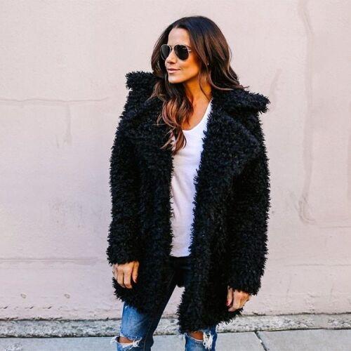 Fluffy Long Faux Women Fur Coat Thicken Winter Pink Black Ladies Cardigan Jacket