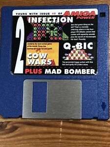 Amiga-Power-Magazine-cover-disk-49-Infection-Cow-Wars-Q-Bic-TESTED-WORKING