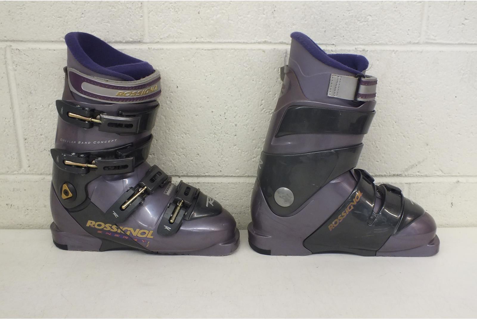 Rossignol Energy S Inverted Overlap Downhill Ski Ski Ski Stivali MDP 24.5 US Donna 7.5 c549d9