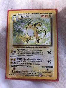 Raichu-14-102-Pokemon-Card-Holo-Rare-WOTC-Base-Set-Near-Mint-Condition
