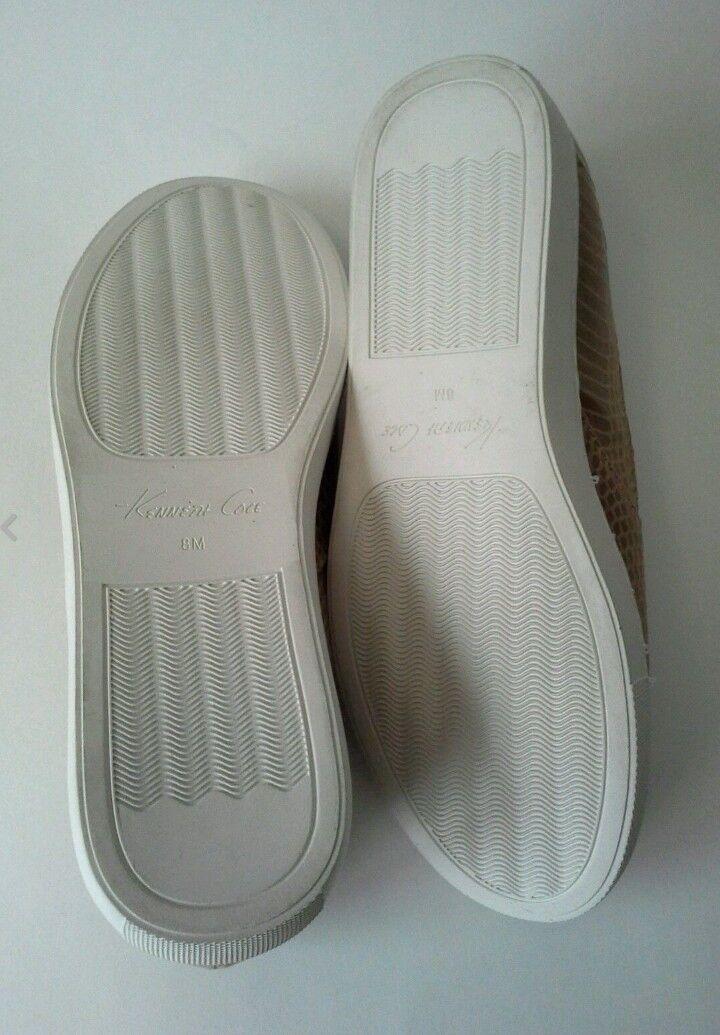 Kenneth Cole Kit Loafer Sneaker Sneaker Sneaker shoes Embossed Pattern Vegan Sz 8 Carmel   150 3bc1f9