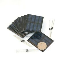 9pcs 9X 2V, 150mA 300mW 3Watts 3W Totally Solar Panel Power Cell For Charger