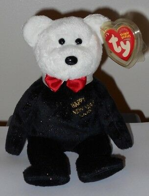 TY Beanie Baby 8.5 in Internet Excl COUNTDOWN the Bear 7, 6, 5, 4 version