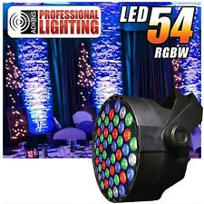 RGBW Color Mixing LED Par Can - 54 1-watt LEDs - Red, Green, Blue and White