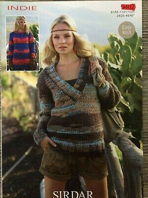 "Sirdar Chunky Femmes//Filles Cardigan Knitting Pattern 9379 Tailles 24-46/"""