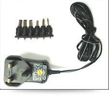 UK 3 Pin Universale AC / DC Alimentatore adattatore spina 600MA 3v 4.5 V 6V 7,5 V 9V 12V