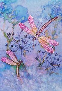 PINK DRAGONFLIES QUALITY CANVAS ART PRINT