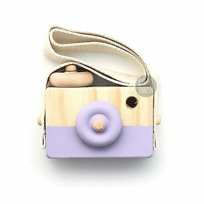 Behind The Trees Wooden Toy Camera Purple Pretend Play for Children Free Express
