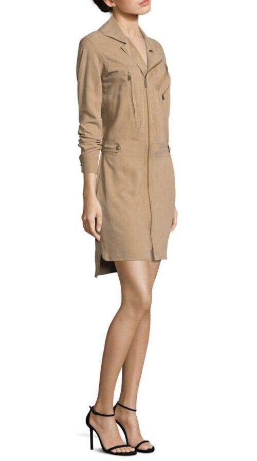 NWT Polo Ralph LaurenWoherren Natural Zip-front Utility Dress Größe 6
