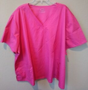 59154e8ce93 NWT Cherokee Luxe V Neck Scrub Top 1845 ROSEV Rose Pink Womens 5XL ...