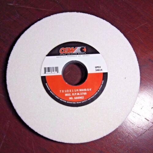 CGW Grinding Wheels 7 x 1//2 x 1-1//4 White Aluminum Oxide Qty 1 34614