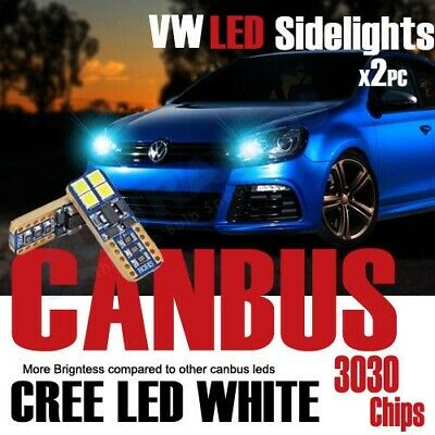 2x 501 T10 W5W CANBUS ERROR FREE LED SMD CREE BRIGHT WHITE DIPPED SIDE LIGHT CAR