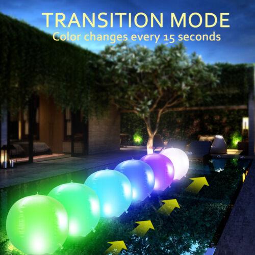 14inch Floating Pool Lights Inflatable Waterproof IP68 Solar Glow Globe 4 Colors