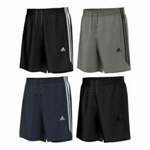 Adidas-Shorts-Essential-3-Stripe-Chelsea-Original-Climalite-Gym-S-M-L-XL-XXL