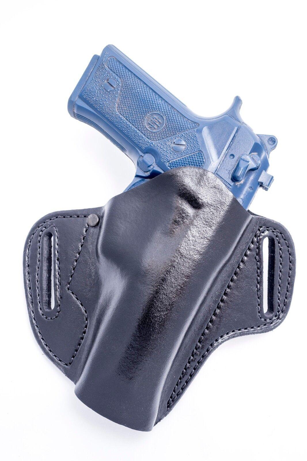 Beretta 92FS 9mm   OUTBAGS Full Grain Leather OWB Pancake Belt Holster. USA MADE