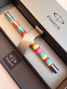2003 Parker Vector Colour Addict Ct Rollerball Pen-uk-gift Box-new Old Stock.