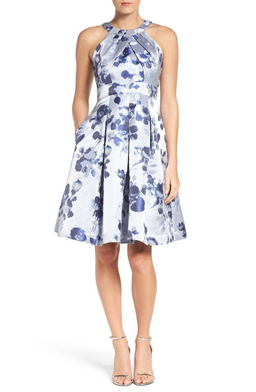 ELIZA J Floral Fit & Flare Dress (Größe 8)