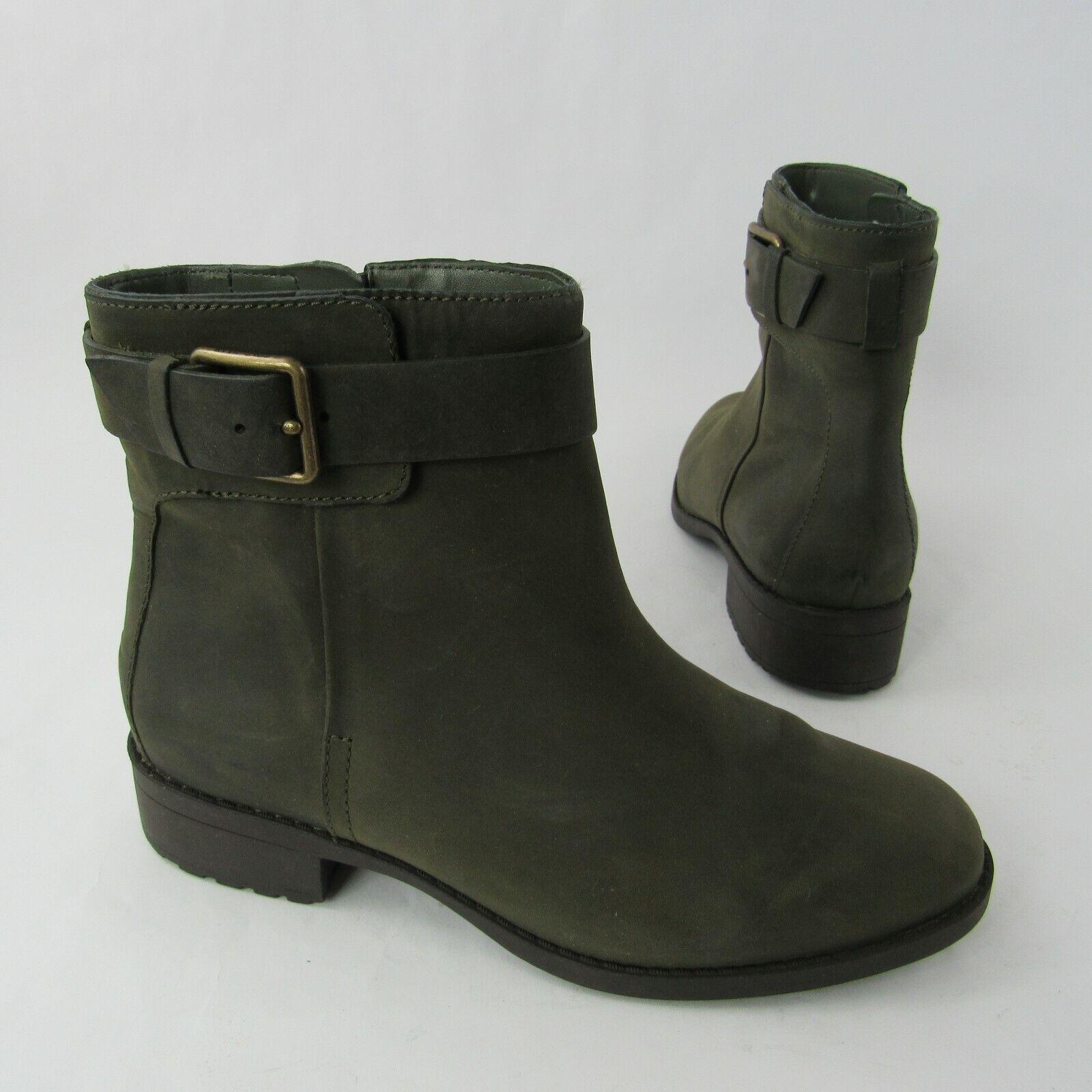 Cole Haan Grand OS Dimensione 6.5 B Ankle  stivali Oiled Leather avvioie Zip Olive verde  rivenditore di fitness