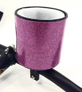 Huffy Coffee Cup Drink Holder Pink Handlebar Clamp On Bicycle
