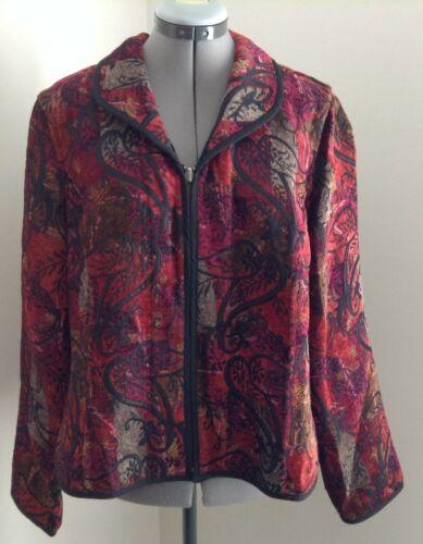 Christopher & Banks deep red tan paisley woven ch… - image 1