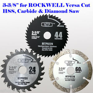 3x 3 38 inch metal wood tile saw blade for rockwell versacut image is loading 3x 3 3 8 inch metal wood tile greentooth Gallery