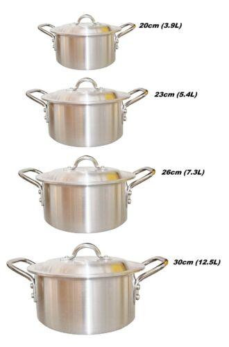 Aluminio Olla Cazo Stock Estofado Sopa Cazuela Catering Pan 20-30cm