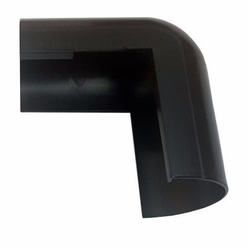 50 mm x 25 mm Noir Clip-Over externe Bend Trunking Adaptateur 90 Degré conduit