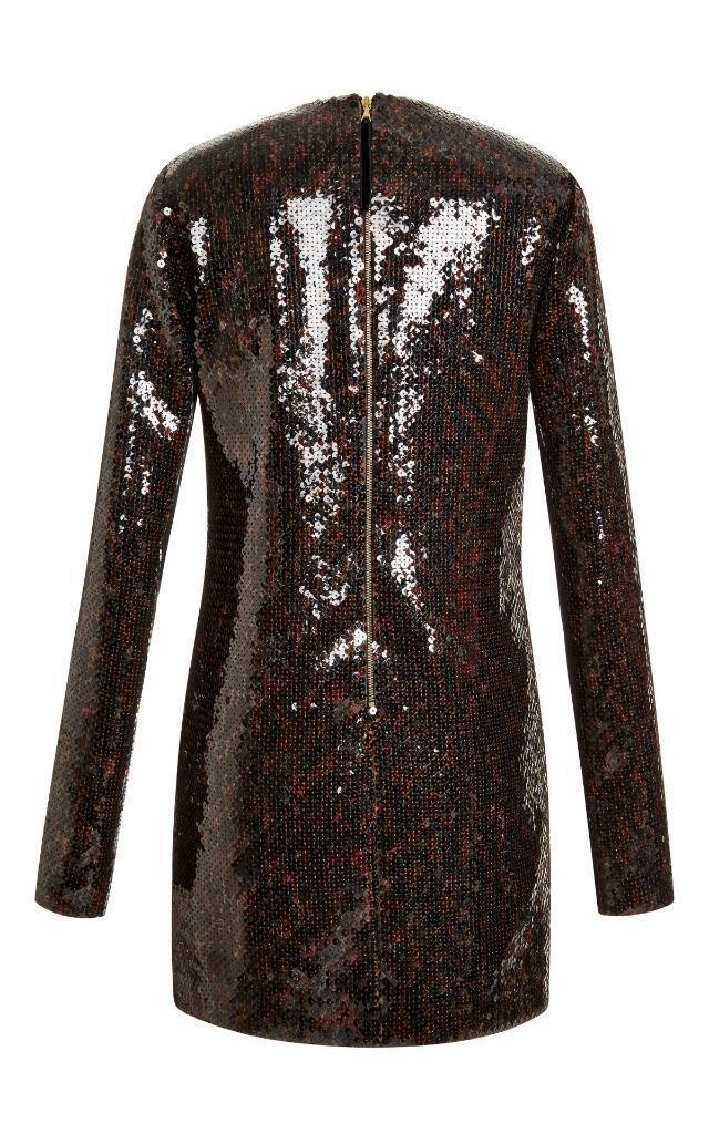 3500 NWT Marc Jacobs Leopard Sequin Long Sleeve Dress 6