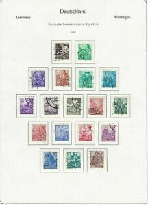 german democratic republic 1953 stamps page ref 18716