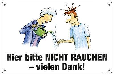 """Comic-Schild Stall-Schild /""""Rauchen verboten/"""",/"""" Hier bitte nicht rauchen/""""  *NEU*"""